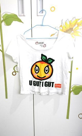 🚚 Giodano橘子短版上衣