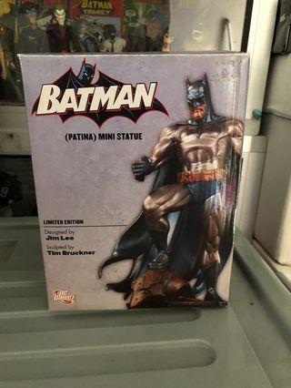 Batman Jim Lee Mini Statue Dc Direct Patina Bronze