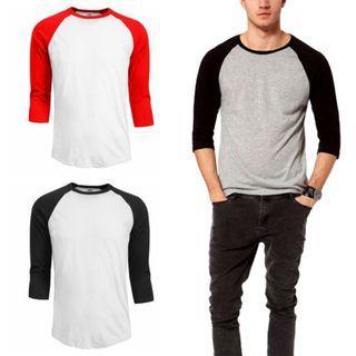 💥NEW💥Men's Casual 3/4 Sleeve T shirt Shirt man Tees