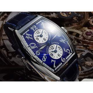 FRANCK MULLER MASTER BANKER 3 TIME ZONE AUTOMATIC WATCH