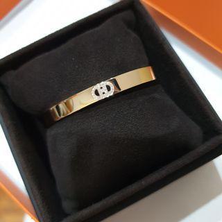 Brand New Hermes H D'Ancre Diamond Bracelet in Rosegold. size short