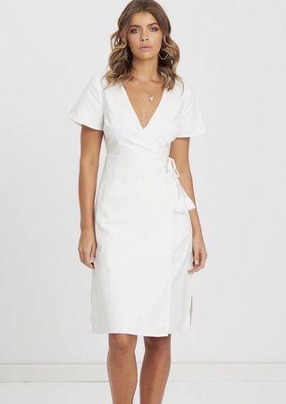 BNWT white wrap dress