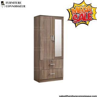 "30"" - 2 Door Wardrobe with Mirror"