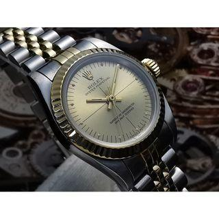 ROLEX 1994 OYSTER PERPETUAL 67193 AUTOMATIC LADIES SIZE WATCH