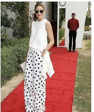 Seed pants as seen on Olivia Palermo