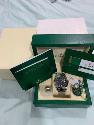 FINAL DEAL!! Very New Rolex DateJust II 41mm Black Dial 126300 Oyster Bracelet AN Series