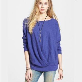 Free People French Terry Draped Pullover