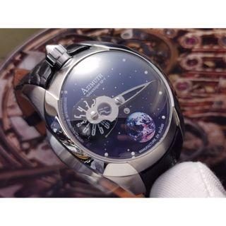 AZIMUTH SP1 SPACESHIP WATCH MYSTERY JUMPING HOUR