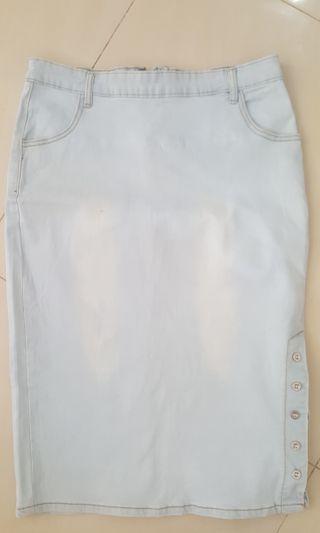 Skirt jeans midi