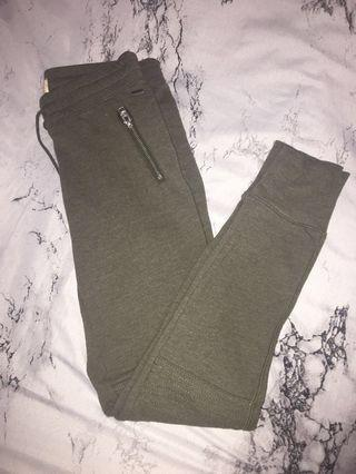 Hollister army green sweatpants