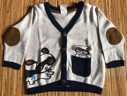 Sweater baby size 4-6 bulan