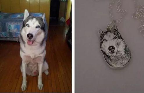 925 銀寵物照片訂制頸鏈,手链鏈及耳環
