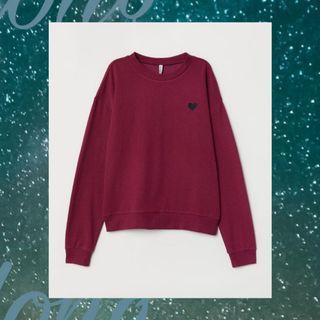 H&M Sweater Shirt Bordir Love