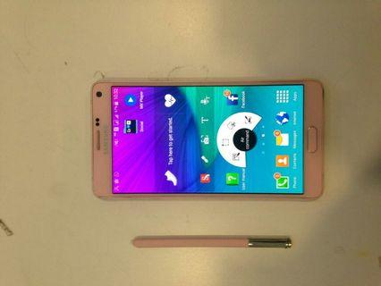 Samsung Note 4 Duos 16gb pink