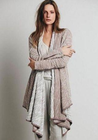 Freepeople In The Loop Long Open Front Cardigan