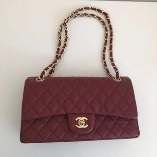 Chanel Classic Flap Bag Red Caviar