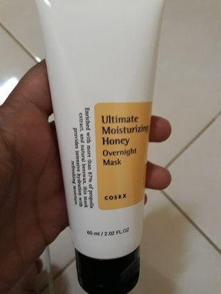 Cosrx uktimate moisturazing honey overnight mask