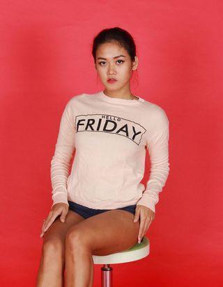 Sweater peach friday