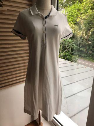 🚚 Lacoste Simple T-shirt Dress in White