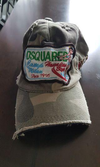 Dsquared rugged khaki cap