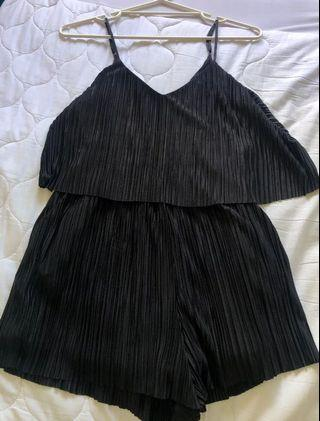 Black playsuit size 10