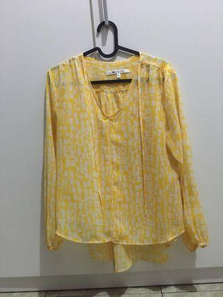 Yellow top blouse