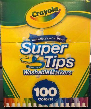 Crayola Washable Supertips 100 pcs