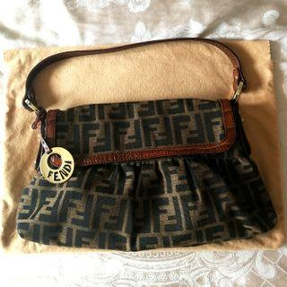 15e876de80ed Vintage Fendi Zucca Shoulder Bag AUTHENTIC