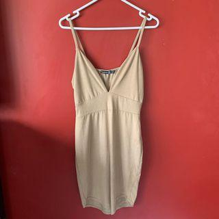 Size 12 suede look nude dress