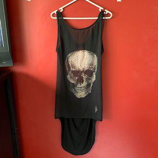 Size 10 sheer skull top/dress