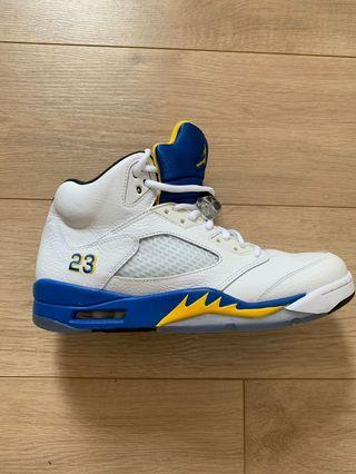 Air Jordan 5 LANEYS. Worn once. USA size 10.5. almost brand new!
