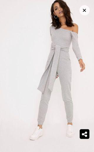 Size 12 Grey sweat jumpsuit