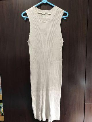 🚚 New Knitted nude Color dress