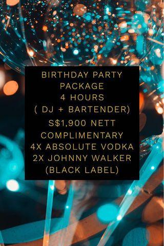 21 Birthday Party Package! DJ party Bartender Deejay Bartenders Bar Sound System