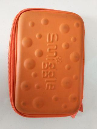 Smiggle orange pencil case