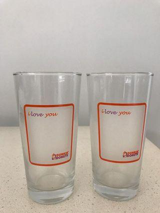 Dunkin Donuts Glass cup