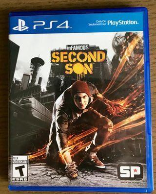 中古 英文版 PS4 game 遊戲 Infamous Second Son(無花碟)