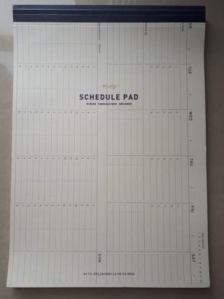Weekly Planner Schedule Pad Super Tebal