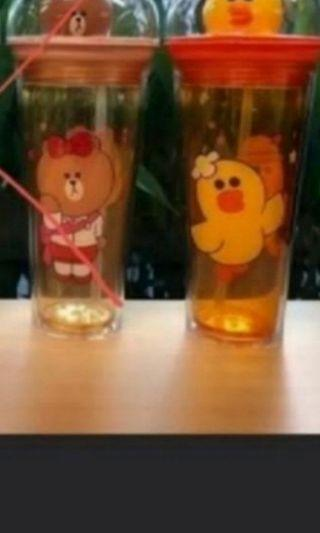 Ready stock Limited edition line friend cup