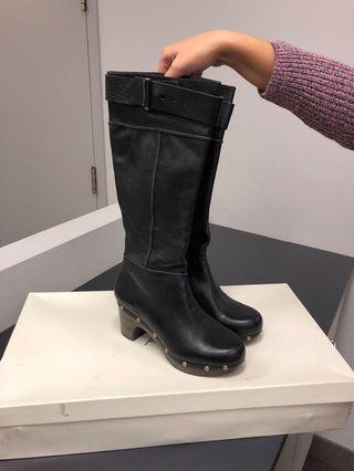 "Topshop premium women's leather boots ""Prescott"" size 9.5"