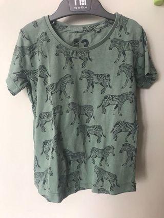 REPRICED!!#prelovedwithlove Cotton on zebra shirt
