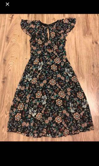 Zara Flowers Midi Dress