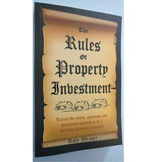 The Rules of Property Investment (by Roly Weaver) - Book