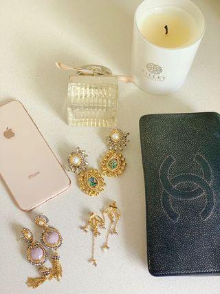 Gold plated & handmade earrings!