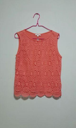 Pink Sleeveless Blouse