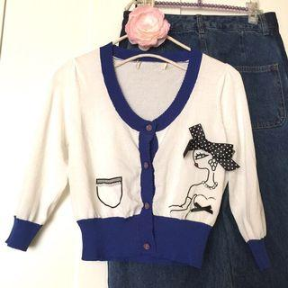 設計師款造型設計冷氣罩衫 小外套 線衫外套 針織外套 薄外套 洋裝罩衫~珍珠 蝴蝶結 水鑽飾 薄紗 玫瑰扣 細節設計