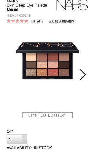 Nars limited edition skin deep palette