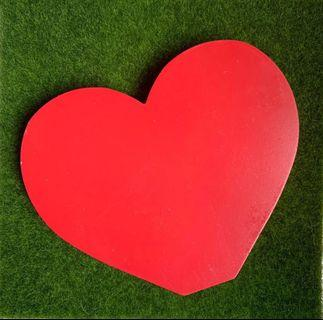 Typo Wooden Red Hearts (2 pieces)