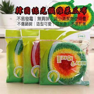 🚚 韓國絲光纖維菜瓜布 碗盤清洗菜瓜布  可吊掛菜瓜布 廚房菜瓜布