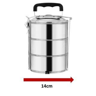 3 Layer 14CM Stainless Steel Lunch Box